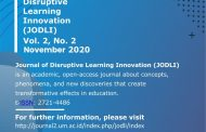 Call For Paper Journal of Disruptive Learning Innovation Universitas Negeri Malang